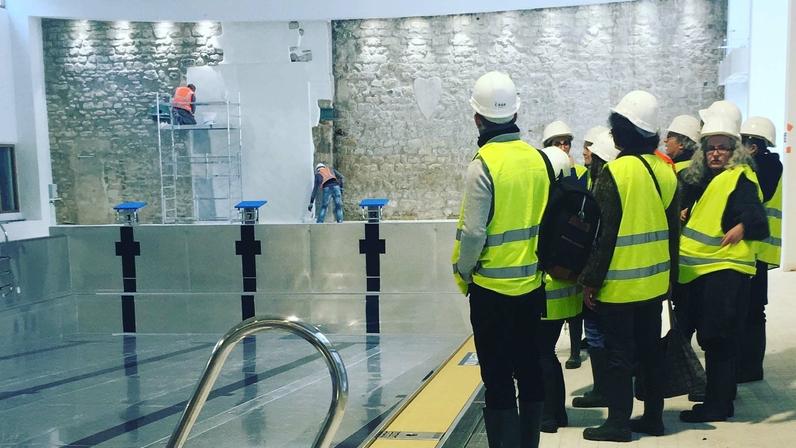 Visite du chantier du multi-équipement Saint Merri