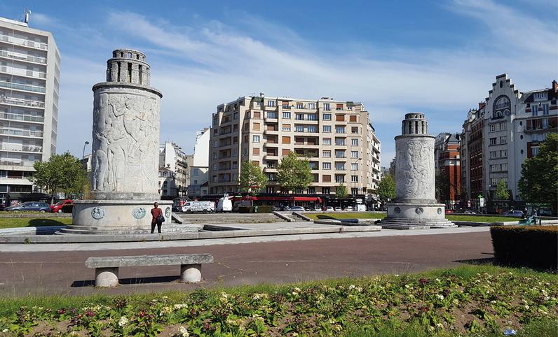 Visuel de la fontaine de la Porte de Saint-Cloud