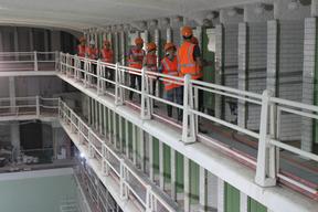 Visite du chantier de la Piscine des Amiraux 2017