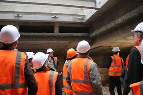 Visite du chantier de la piscine des Amiraux 2016